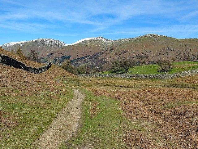 Path below Huntingstile Crag