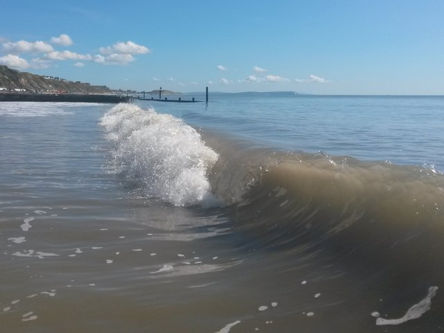 Southbourne: a breaking wave