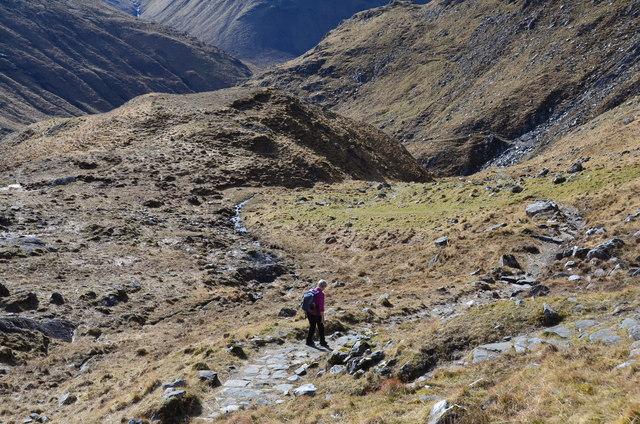 Descending to Gleann Lichd