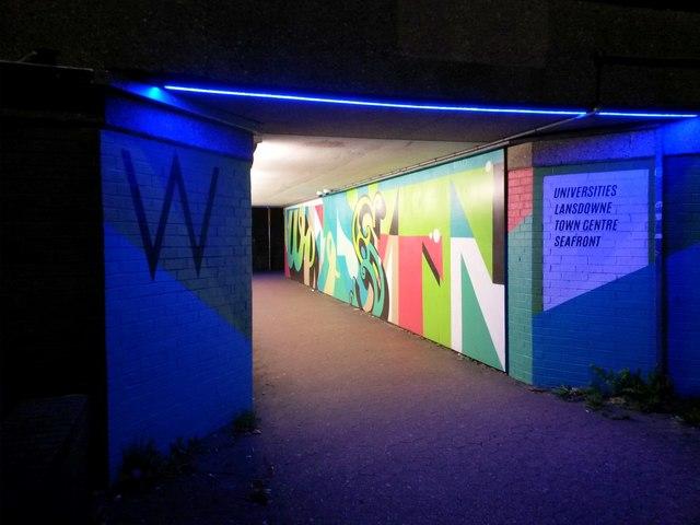Bournemouth: western subway under the Station Roundabout