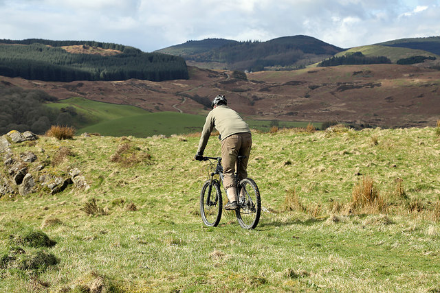 Cycling off Barstobrick Hill