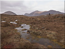 NH2851 : Boggy area close to Allt Mhairi in the Strathconon Forest by Julian Paren