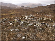 NH2950 : Rough moorland of the Strathconon Forest by Julian Paren