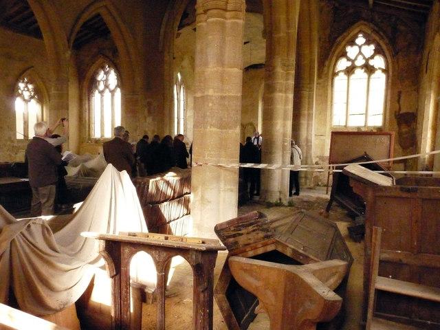 Worship in a derelict church