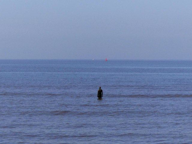 One of Sir Antony Gormley's iron men