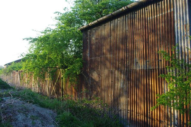 Rusty farm buildings