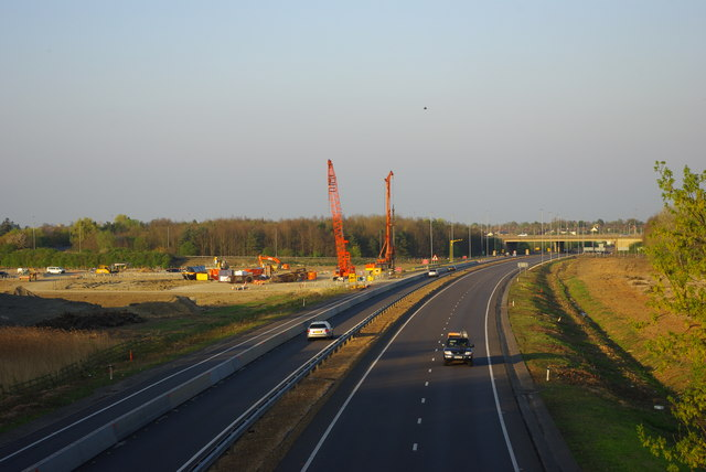 A428 and road-building works