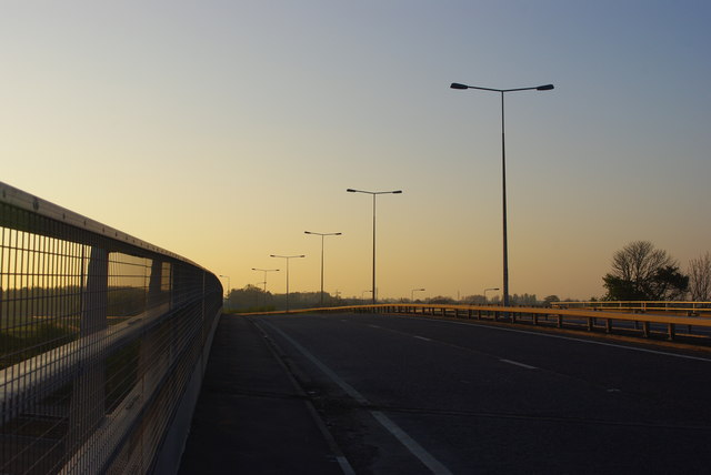 Huntingdon Road at sunset