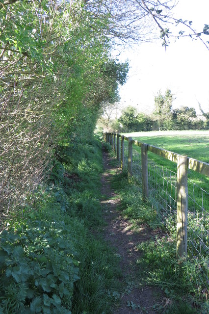 Footpath towards Plumpton