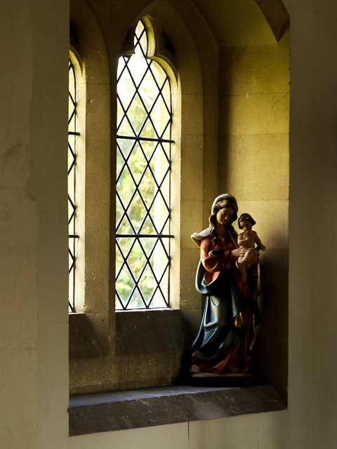 Window, St. Andrew's church, Pixley, 2