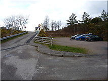 NG8580 : Carpark in Poolewe by Richard Law