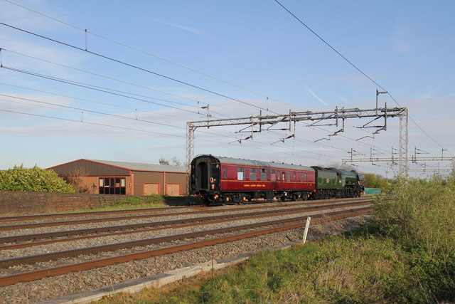 Flying Scotsman by Lodge Farm business park
