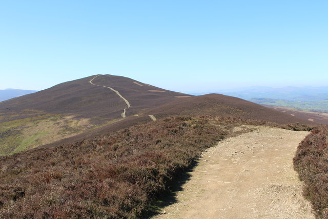 View from the western rampart of Moel y Gaer hill fort