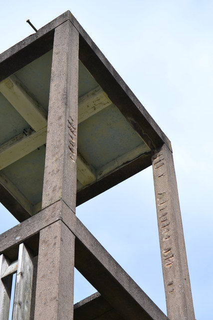 Bell tower of St Oswald's Church, Tile HIll, west Coventry – spalling of concrete