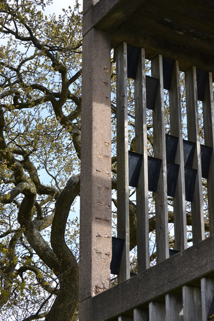 Bell tower of St Oswald's Church, Tile Hill, west Coventry – exposed reinforcement