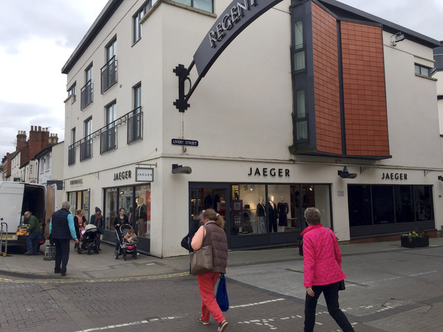 Jaeger shop, corner of Regent Street and Livery Street, Leamington