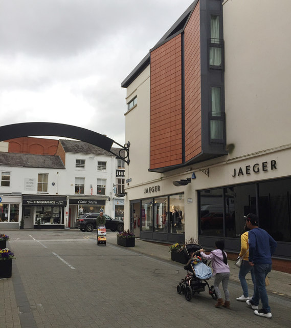 Livery Street meets Regent Street east, Leamington