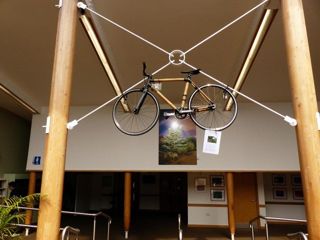 This Bamboo Bike is in the Reception Area of Ness Gardens www.nessgardens.org.uk.