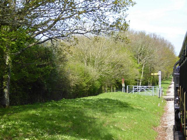 Bridleway crossing over railway