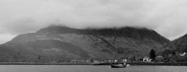 Glen Coe, from Loch Leven moorings