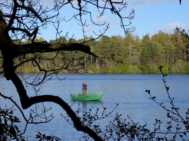 A lone angler on Loch Na Bo on Easter Monday