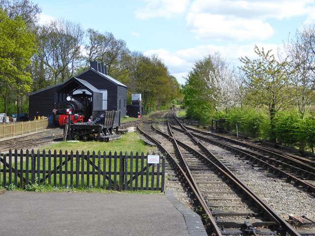 View from platform end, Mid Suffolk Light Railway