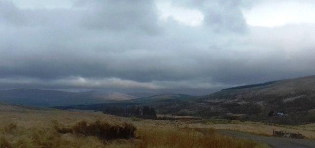 Moorland below Fingland Hill near Carroch