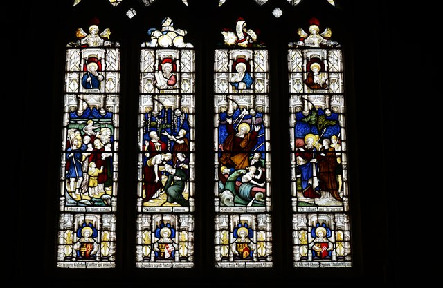 Melbury Bubb, St. Mary's Church: Stained glass window 4