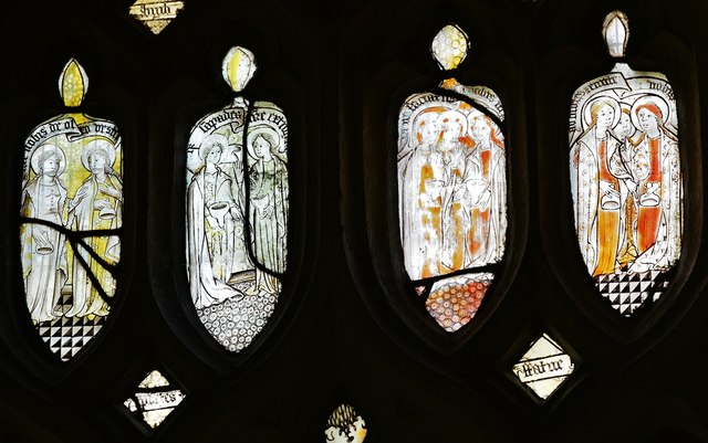 Melbury Bubb, St. Mary's Church: Stained glass window 8
