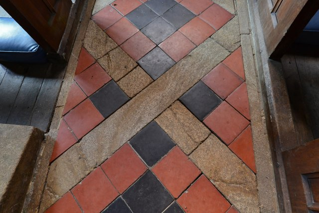 Melbury Bubb, St. Mary's Church: Floor tiles