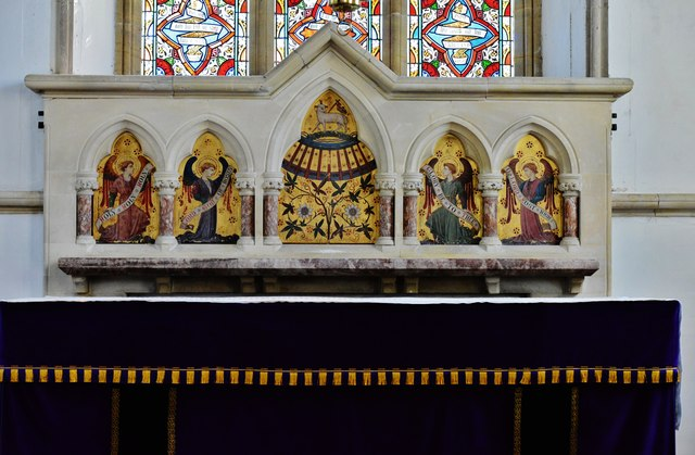 Hawkchurch: St. John the Baptist's Church:The reredos