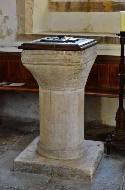 Hawkchurch: St. John the Baptist's Church: The font