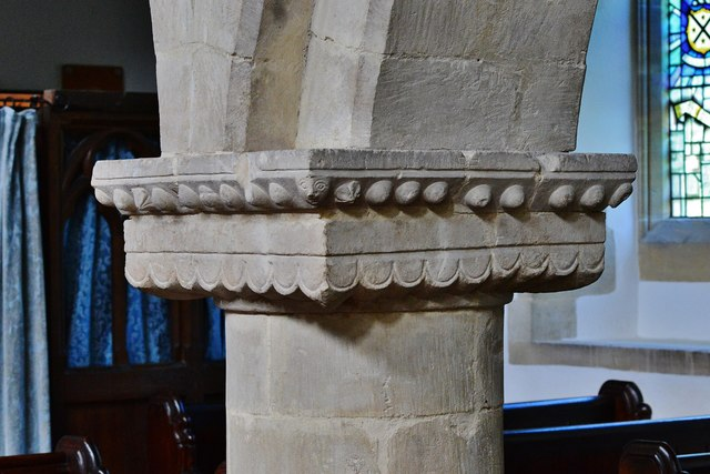 Hawkchurch: St. John the Baptist's Church: Nave capital