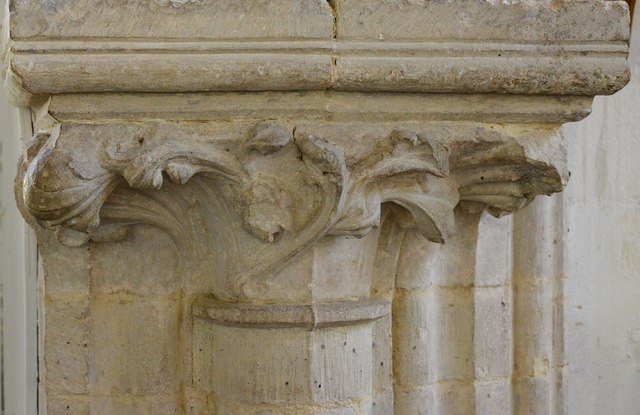 Hawkchurch: St. John the Baptist's Church: Nave capital
