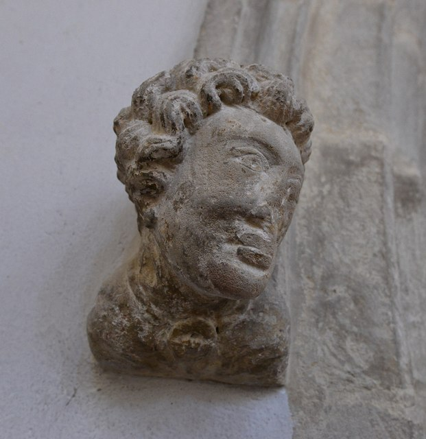 Hawkchurch: St. John the Baptist's Church: Head corbel