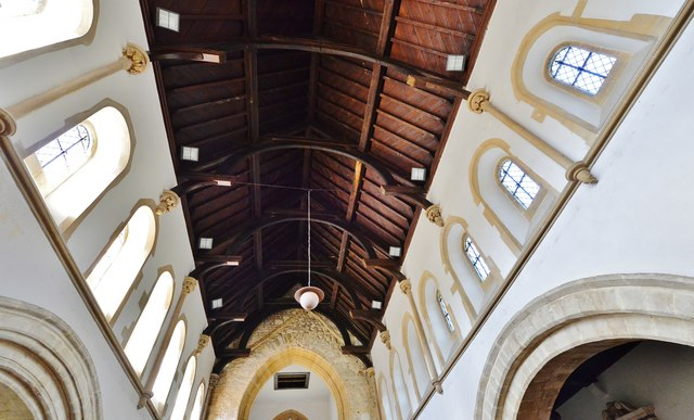 Hawkchurch: St. John the Baptist's Church: The nave roof