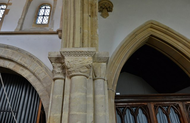 Hawkchurch: St. John the Baptist's Church: The Norman chancel arch