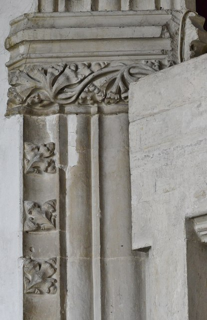 Colyton, St. Andrews Church: Chancel arch capital