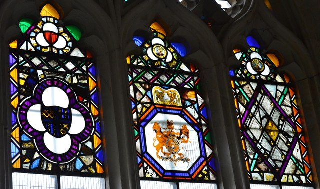 Colyton, St. Andrews Church: Stained glass window detail