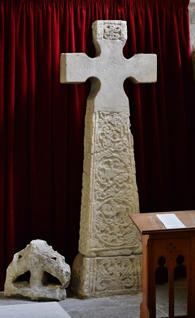 Colyton, St. Andrews Church: Saxon stone cross