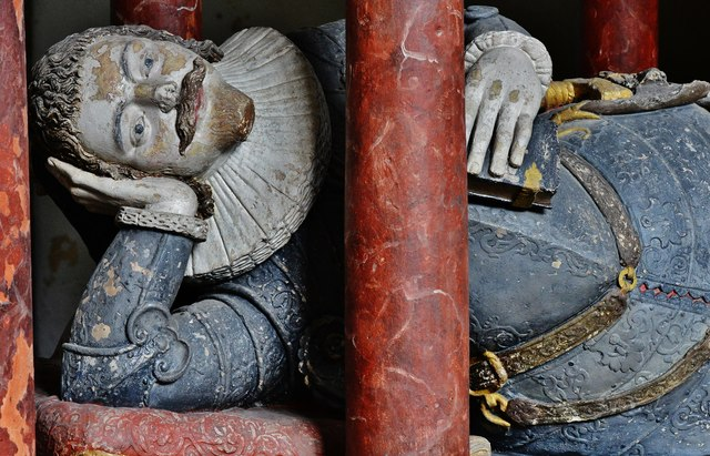 Colyton, St. Andrews Church: Memorial to Sir John Pole (1588-1674) 1