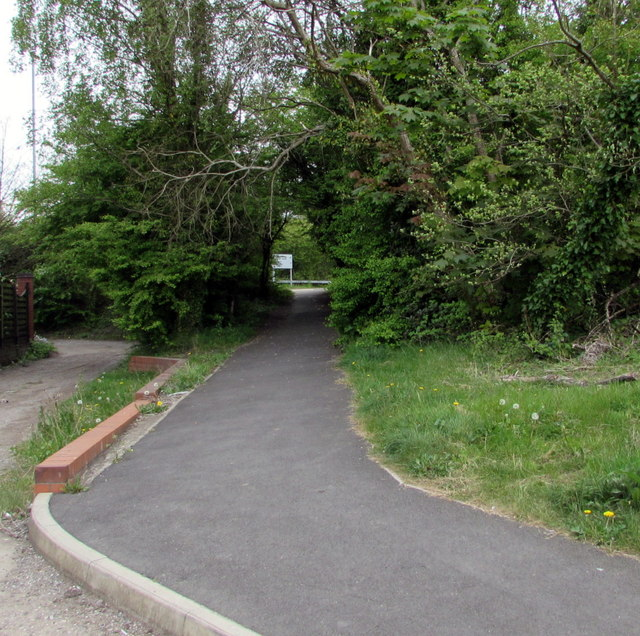 Path north from Tregwilym Road, Rogerstone, Newport