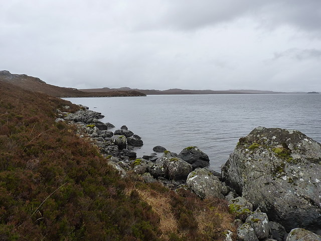 Along the northern shore of a small promontory
