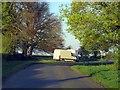 SP3023 : A rural road nears the A361 by Steve Daniels