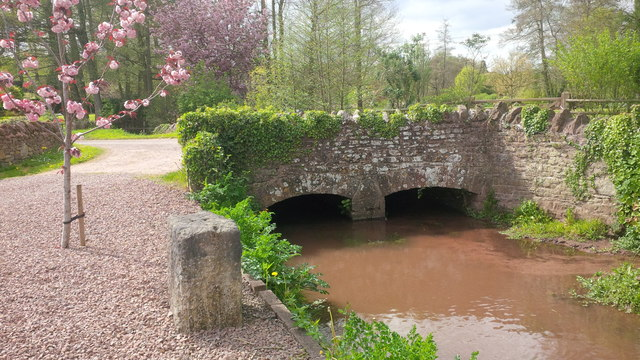 Bridge over the Rudhall Brook in Fording Lane