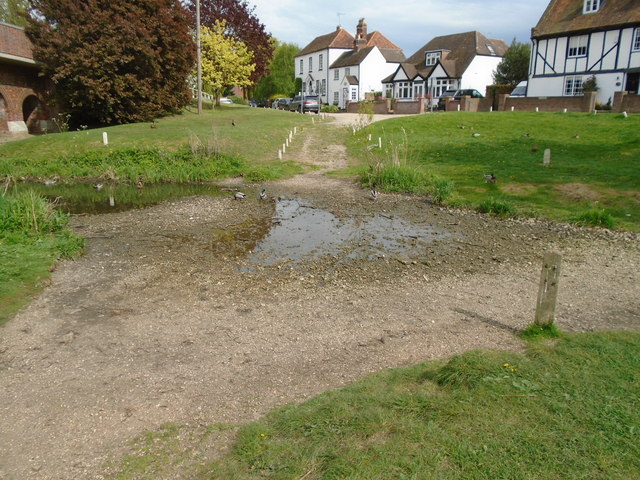River in drought 1 - the ford by the village green
