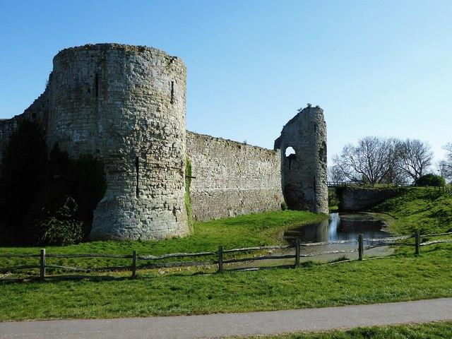 Pevensey Castle - The western flank