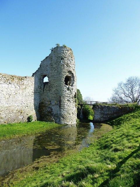 Pevensey Castle - Bridge to entrance