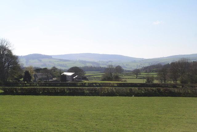 Hersedd Farm and the Clwydian Range