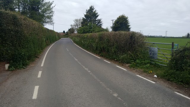 The B3162 between Forton and Holbear